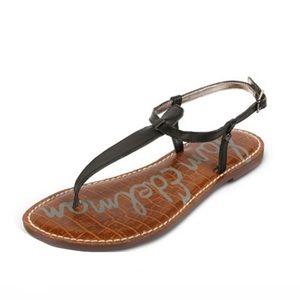 Sam Edelman Gigi Black T Strap Sandals Shoes 8